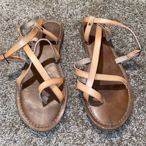 Tan Greeklike Sandals by Mossimo